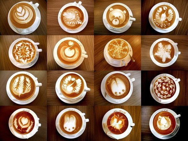 как приготовить кофе с рисунком
